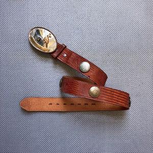 80's Billy Martin's Lizard Leather Western Belt 28